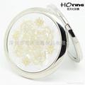 彩貝貝殼紋化妝鏡