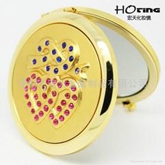 鍍金合金化妝鏡