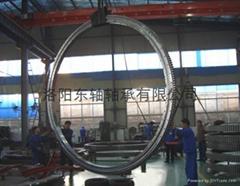 Turntable bearing 131.50.3550 manufacturing