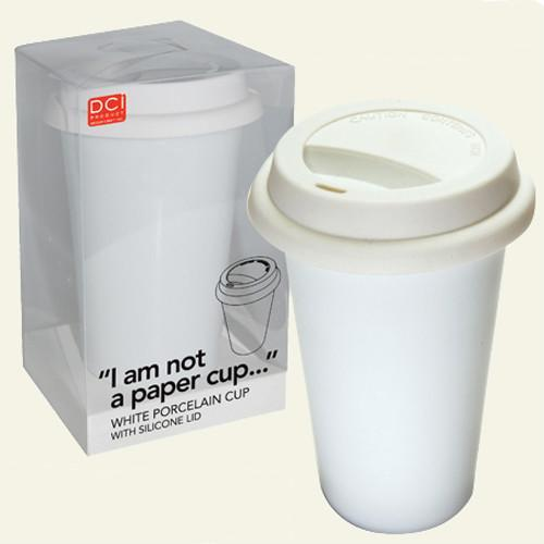 eco friendly porcelain mug,silicone lid 1