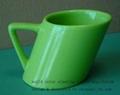 ceramic slanting gift mug