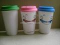 eco friendly porcelain mug,silicone lid 2