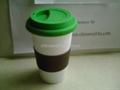 eco friendly porcelain mug,silicone lid 3