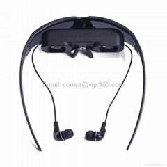 Portable Wireless Video Glasses Eyewear Mobile Theatre VG260 with AV-in for FPV