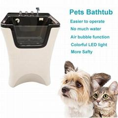 Acrylic Dog Spa Bubble Bathtub