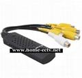 厂家供应USB4路采集卡,USB采集卡,USB DVR