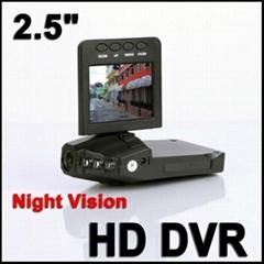 高清车载录像机,720P 标清夜视行车记录仪