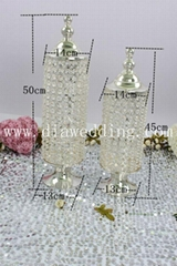 Crystal wedding table centerpiece and crystal centerpieces for wedding table