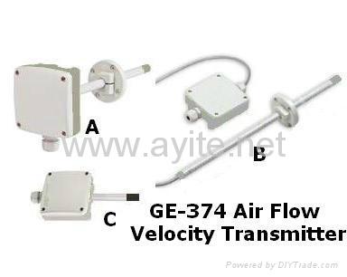 GE-374 Air Flow Velocity Transmitter Ventilation Meter