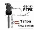 Teflon PTFE Paddle Flow Switches Corrosion proof