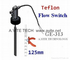 Teflon PTFE Paddle Flow Switches Corrosion proof