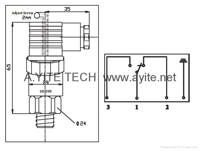 GE-208可調型機械式壓力開關控制器 2