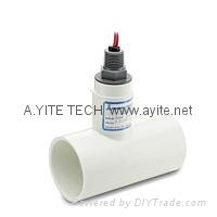 PVC管道式特氟龙耐腐蚀水流量开关 3