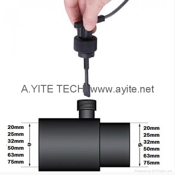 Pvc tee pipe inline ptfe teflon flow switch hong kong