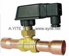 紫銅管焊接型油流量開關