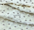 Minky dot fabric with printing design 1