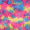 Rainbow shaggy fabric
