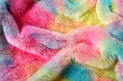 Tie die plush fabric