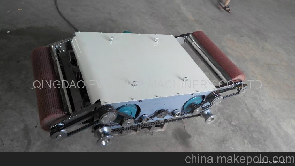 輸送帶平板硫化機加熱板清理機 1