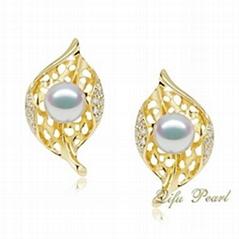 18K Fashion Akoya Pearl Earring