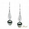 2012 Fashion 14K Tahitian Pearl Earring