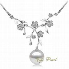 925银淡水珍珠项链