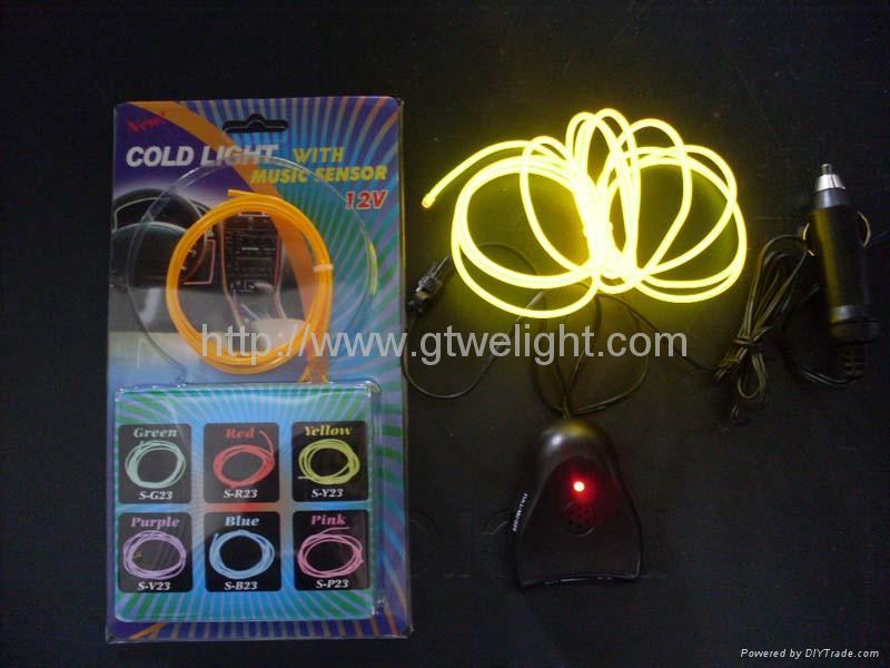12V lighter EL wire(yellow and orange) 3