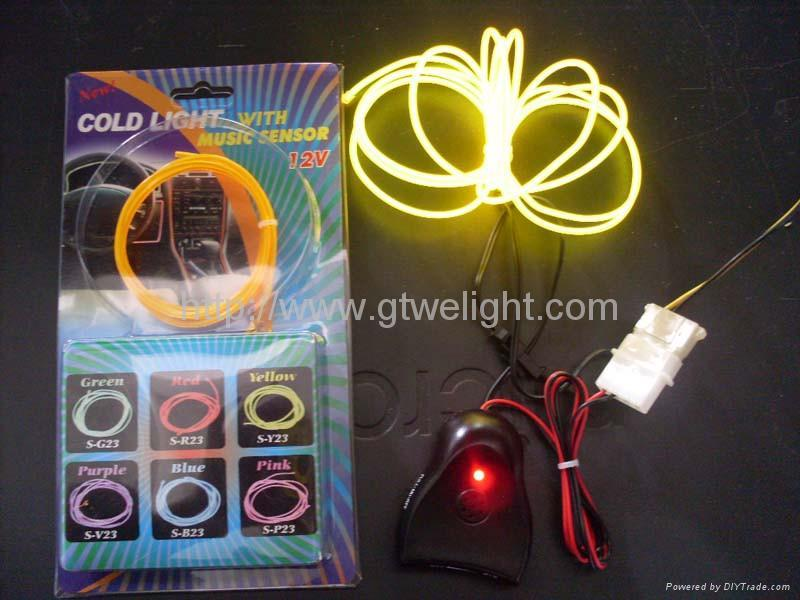 12V lighter EL wire(yellow and orange) 5