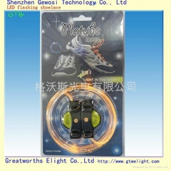 LED glow shoelace different color