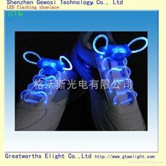 light up LED shoelace blue