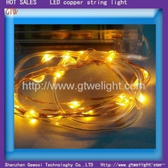 christmas LED copper string light orange by AA batteries pack