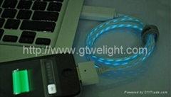 Visible Blue USB Charge Sync Cable for iPhone iPad iPod