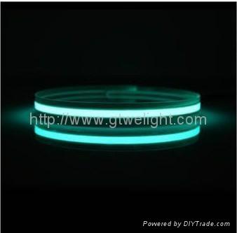 摩托踏板车配件汽车灯车内改装饰用品 发光线冷光线 EL灯条片带  2