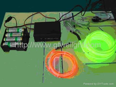 5米12V驱动器电池盒EL发光线 车内EL冷光线 汽车装饰灯 汽车内饰改装 5