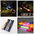 360 degree super flare bicycle lamp bike light LED fiber safty warning stick 1