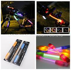 360 degree super flare bicycle lamp bike light LED fiber safty warning stick