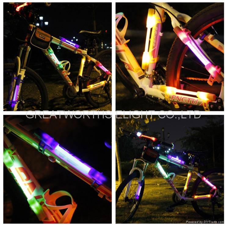 360 degree super flare bicycle lamp bike light LED fiber safty warning stick 3