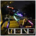 360 degree super flare bicycle lamp bike light LED fiber safty warning stick 4