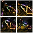 Led glowing bicycle super flare