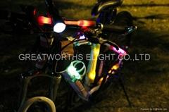 輻條燈 單車風火輪配件 硅膠燈 扁條燈 鋼絲燈 山地車自行車車燈