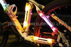 LED fiber safty warning stick super flare bike light universal luminobike light