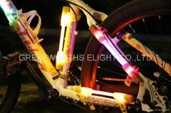 LED fiber safty warning stick super flare bike light universal luminobike light