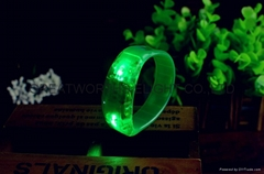 PVC led sound activated bracelet,LED music activated bracelet