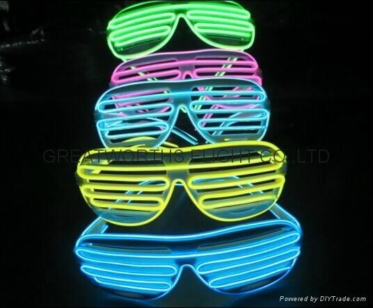 shutter frame EL wire glasses