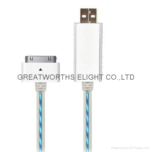 Illuminated Iphone Usb Charge Cable El