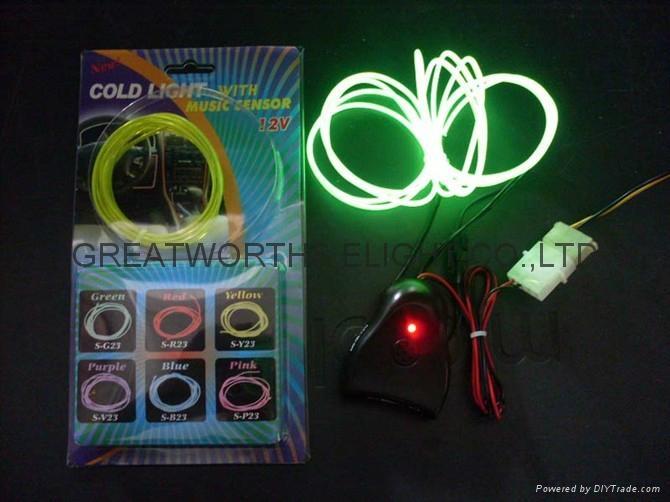 5米12V驱动器电池盒EL发光线 车内EL冷光线 汽车装饰灯 汽车内饰改装 7