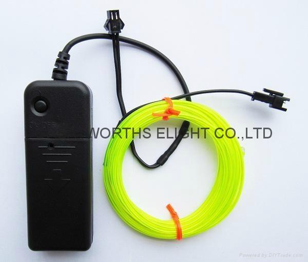 5米12V驱动器电池盒EL发光线 车内EL冷光线 汽车装饰灯 汽车内饰改装 10