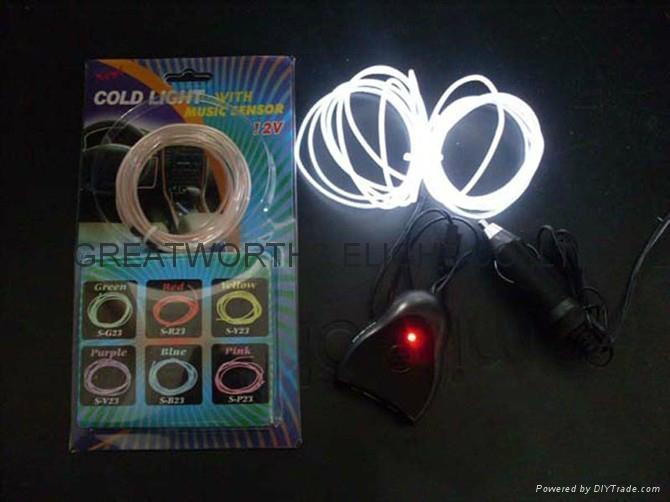 5米12V驱动器电池盒EL发光线 车内EL冷光线 汽车装饰灯 汽车内饰改装 11