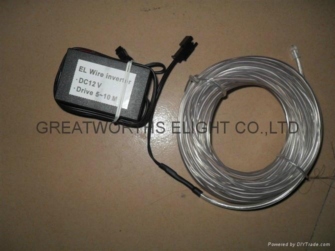 5米12V驱动器电池盒EL发光线 车内EL冷光线 汽车装饰灯 汽车内饰改装 12