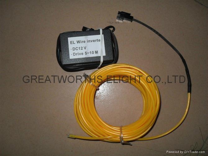 5米12V驱动器电池盒EL发光线 车内EL冷光线 汽车装饰灯 汽车内饰改装 13